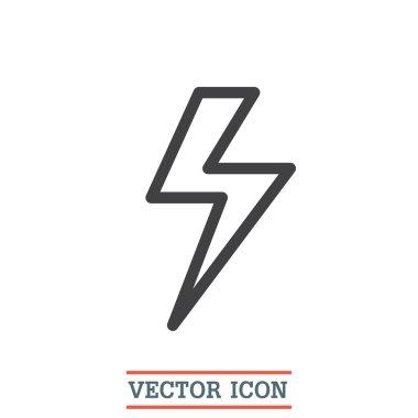 Lightening bolt sign icon