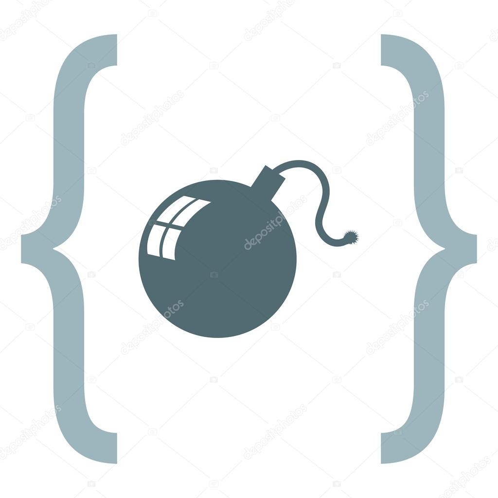 Bomb Symbol Icon Stock Vector Quka 121187772