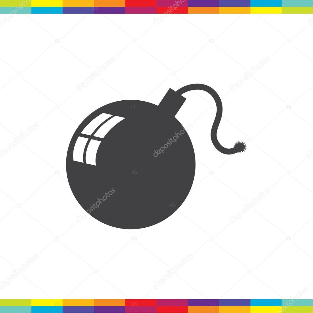 Bomb Symbol Icon Stock Vector Quka 121262950