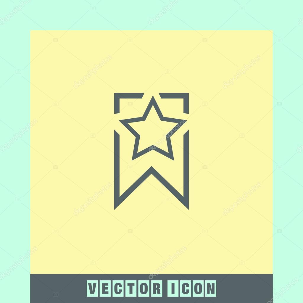 Lesezeichen-Zeichen-Symbol — Stockvektor © quka #121264806