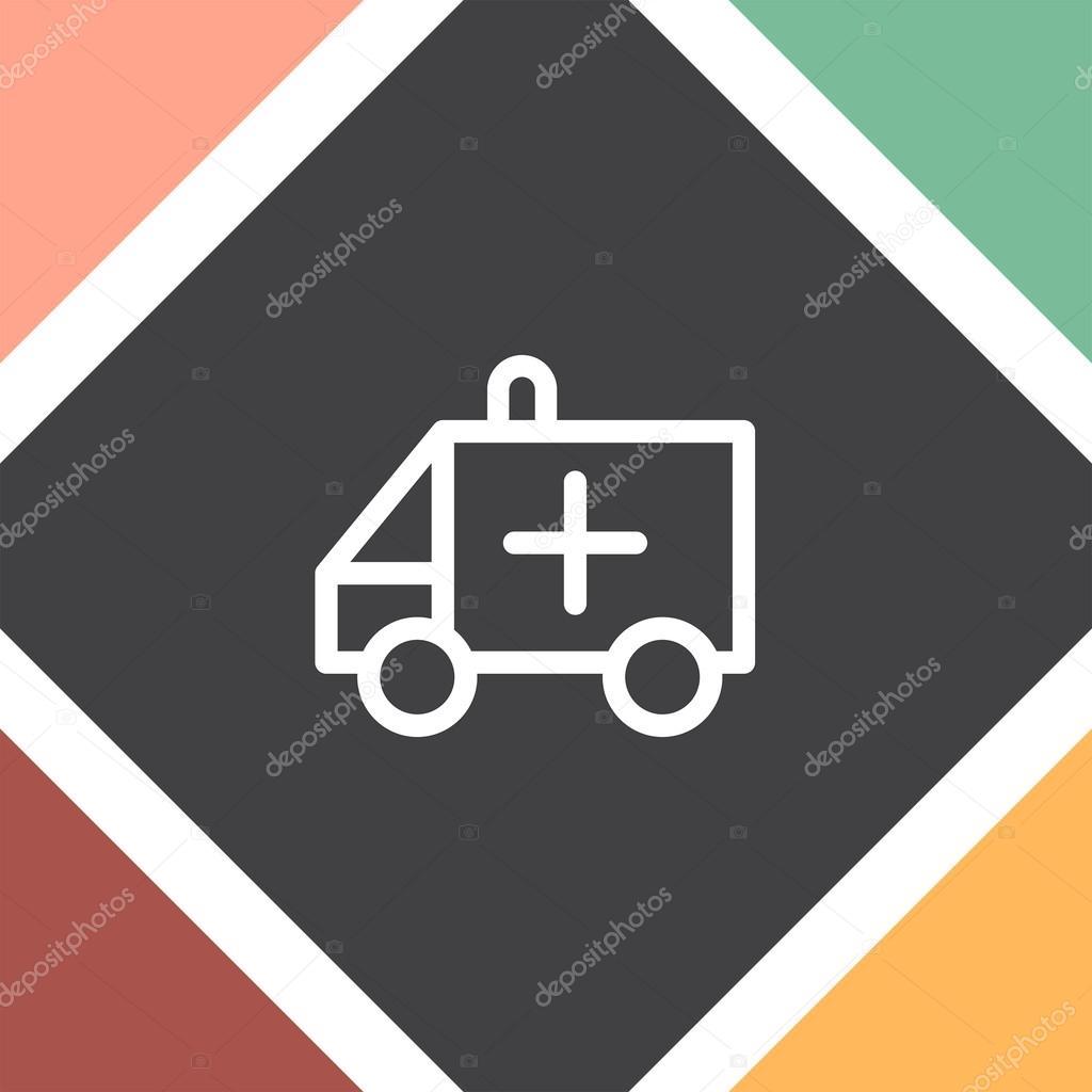 ic ne de signe de voiture ambulance image vectorielle quka 121264964. Black Bedroom Furniture Sets. Home Design Ideas