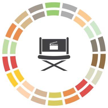 Cinema director chair icon
