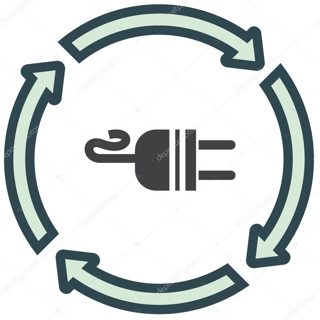 Elektrische Ac-Power-Stecker-Symbol — Stockvektor © quka #121512948