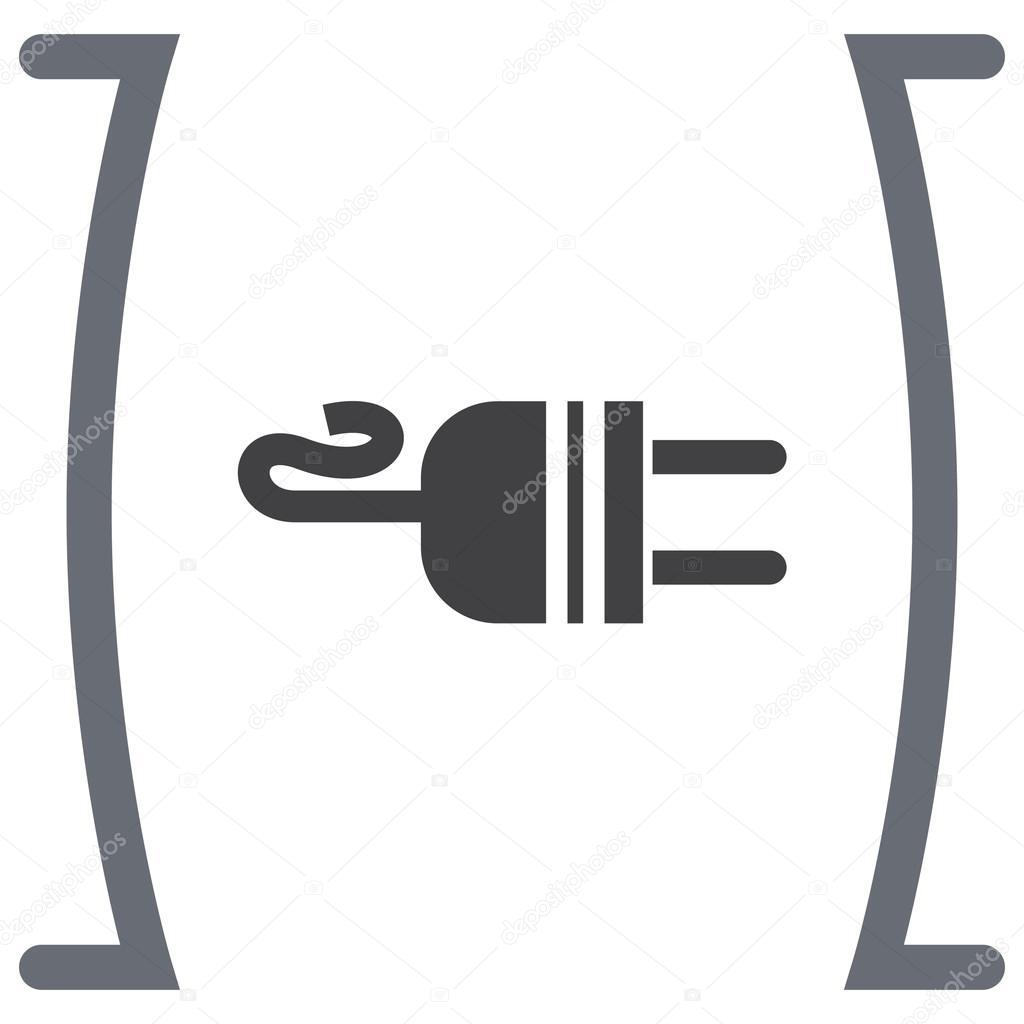 Elektrische Ac-Power-Stecker-Symbol — Stockvektor © quka #121528502
