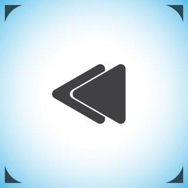 Fast backward button icon