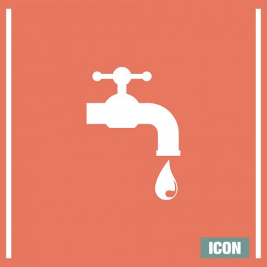 Faucet sign icon