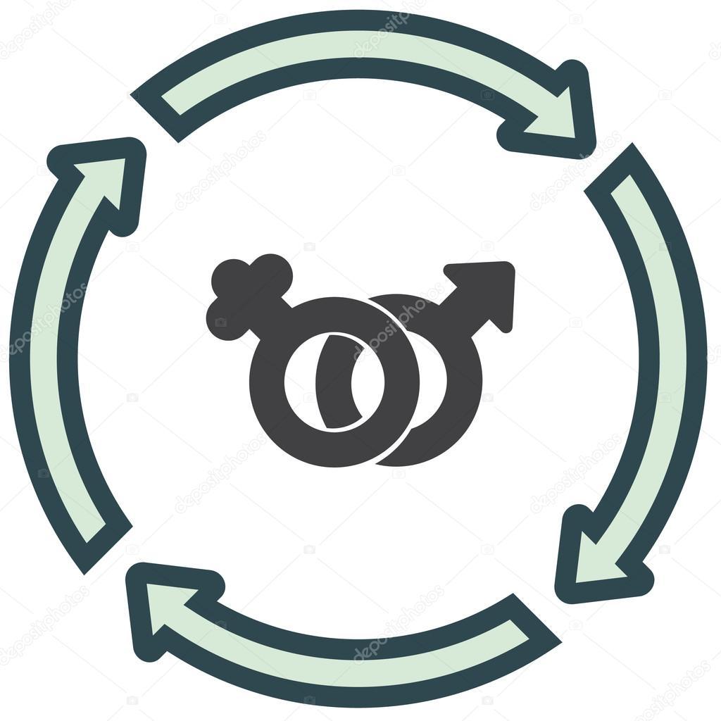 Female And Male Gender Symbols Icon Stock Vector Quka 121950354