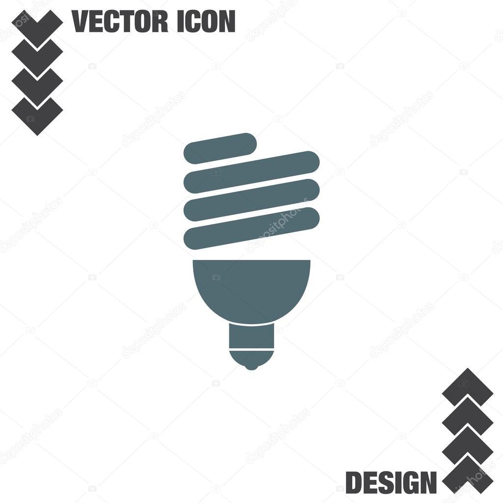 Fluorescent Light Bulb Stock Vector Quka 121955852