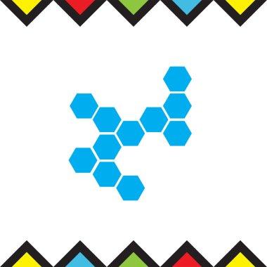 molecular structure flat icon