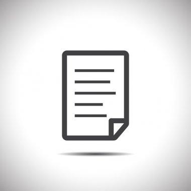 document white vector logo