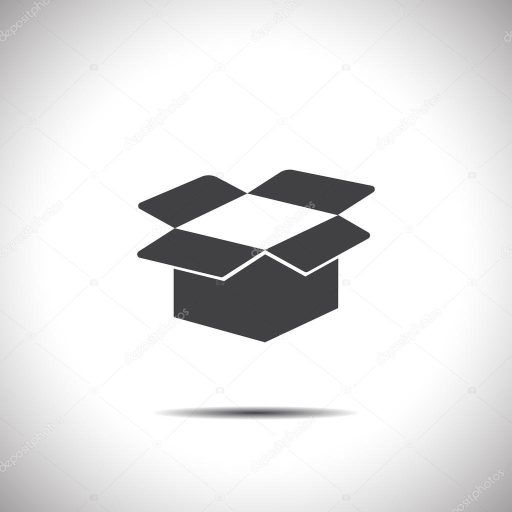 cardboard box open vector icon
