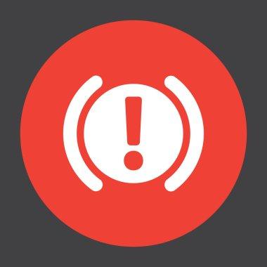 car parking brake signal vector icon