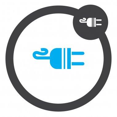 electric ac power plug vector icon