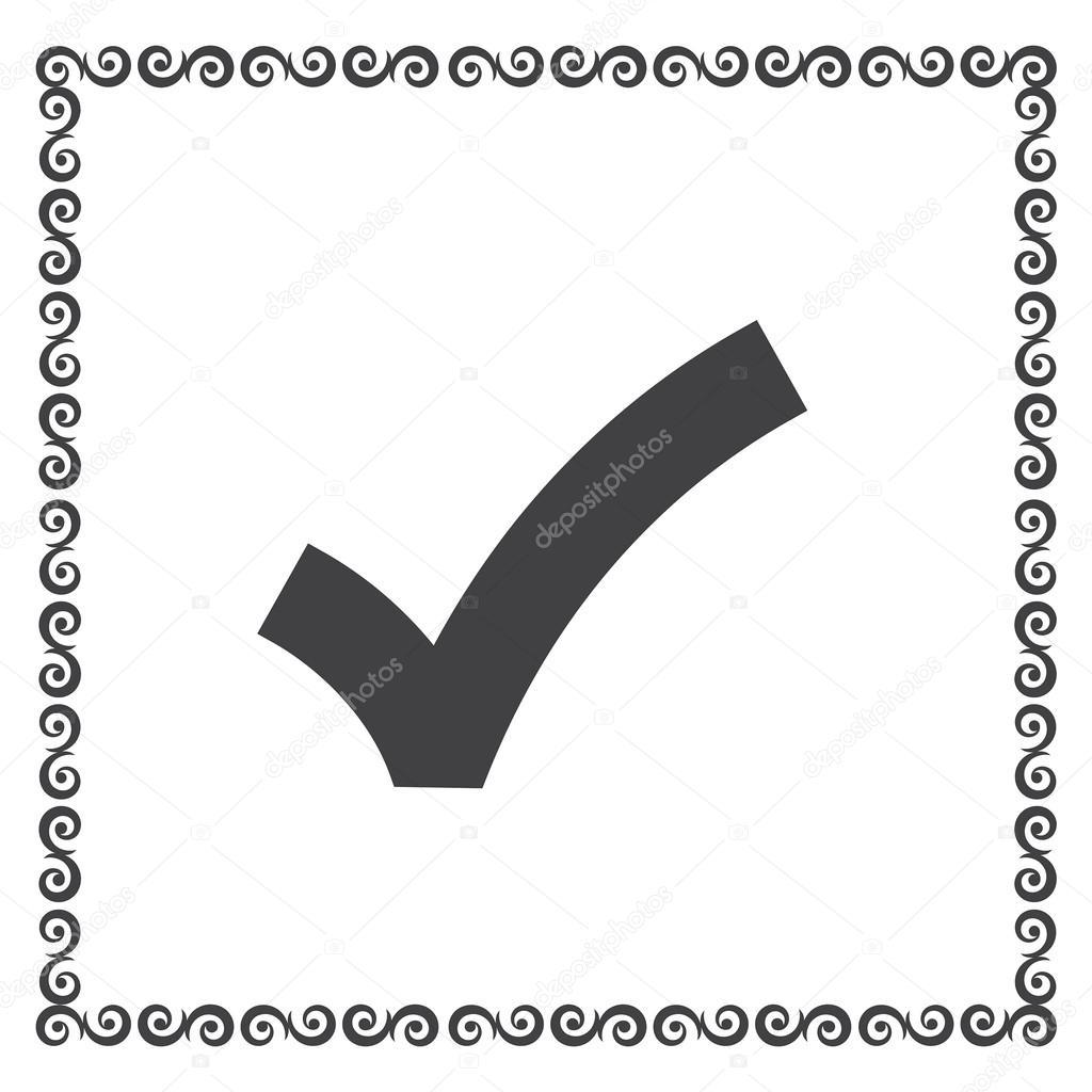 tudo bem o ícone de vector sinal checkmark vetor de stock quka