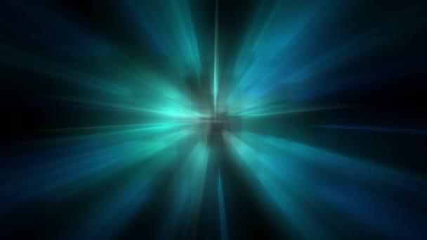 Kék kiemeli a fekete háttér vízszintes. Light Leaks 4K felvétel. Lencse világít flare bokeh overlay, éget láng háttér. Komposztáláshoz a felvételeket, stilizáló videó, átmenetek.