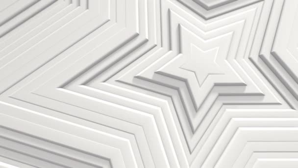 Abstract star pattern with offset effect. The animation is pure white stars. Abstract background for a business presentation. Seamless 3D loops with water. White texture