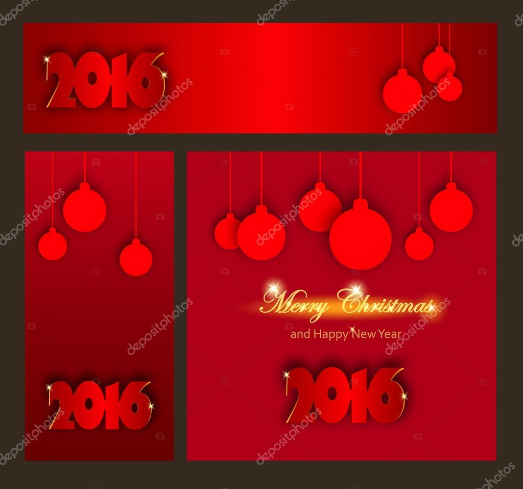 merry christmas and happy new year celebrations collection for flyer banner poster or invitation