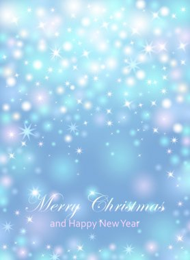 Merry Christmas and Happy New Year celebrations flyer, banner, poster or invitation with shiny text. Merry Christmas message with lights, shining stars