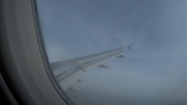 Flugzeug-Innenansicht-Fenster