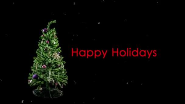 Zastavení pohybu vánoční stromeček smyčka