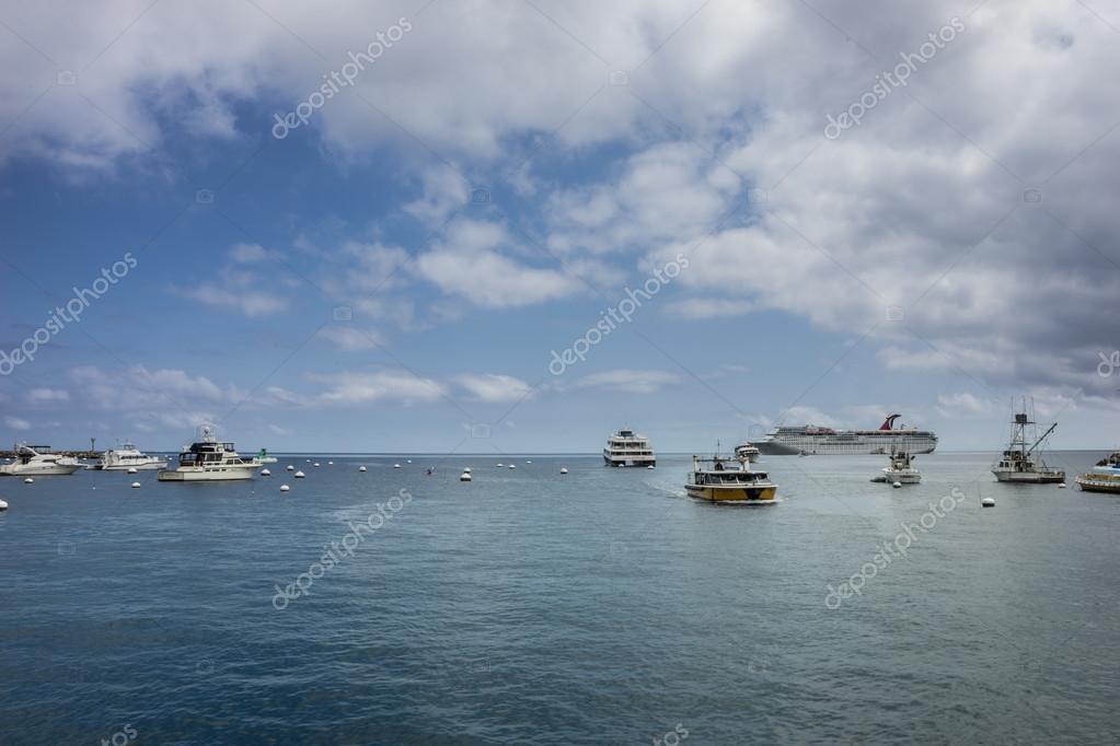 carnival cruise ship at avalon santa catalina island stock