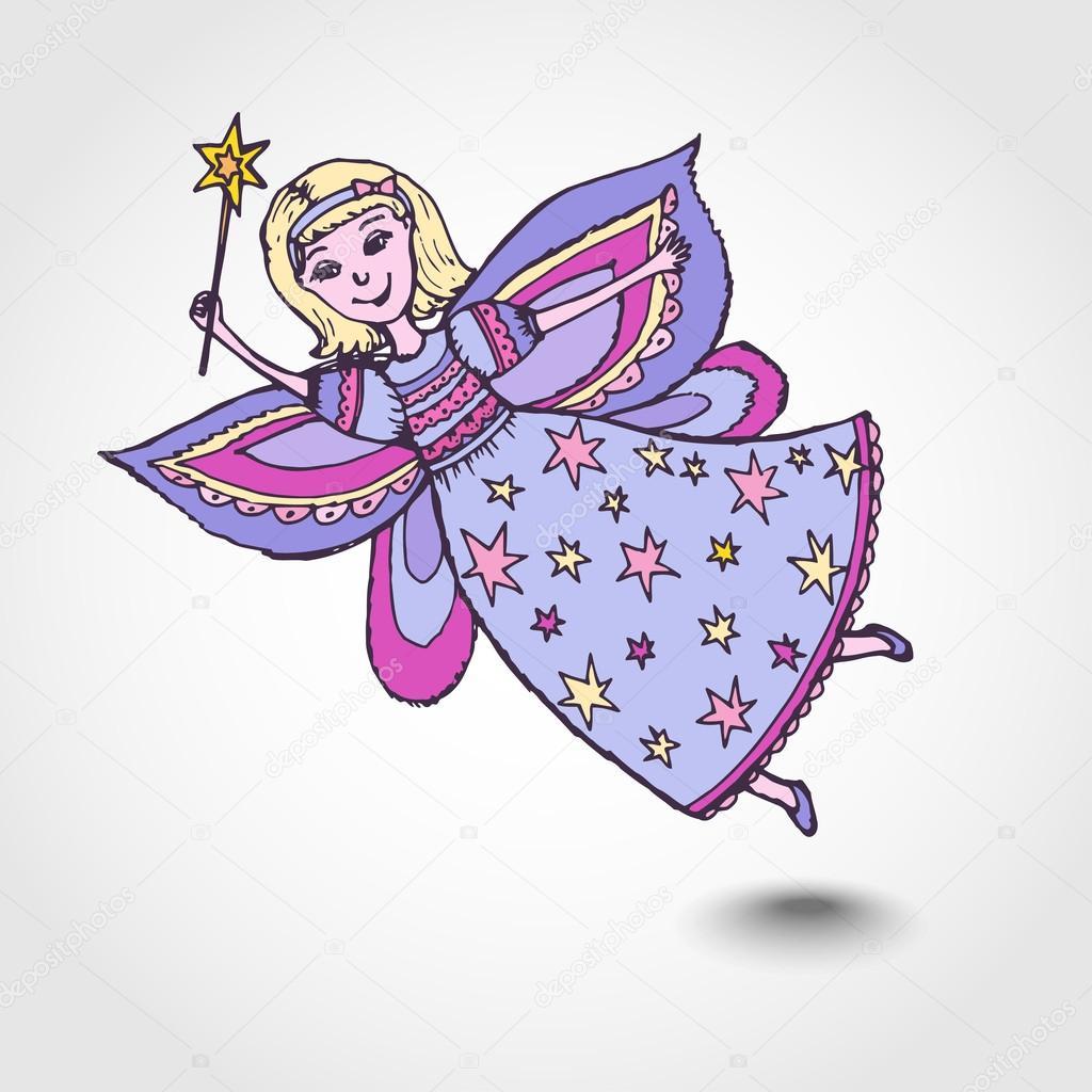 Фея с волшебной палочкой открытка, картинки