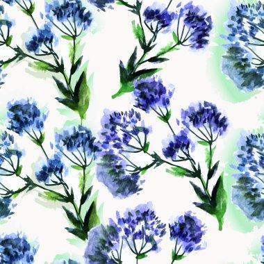 seamless pattern watercolor bouquet Flowers