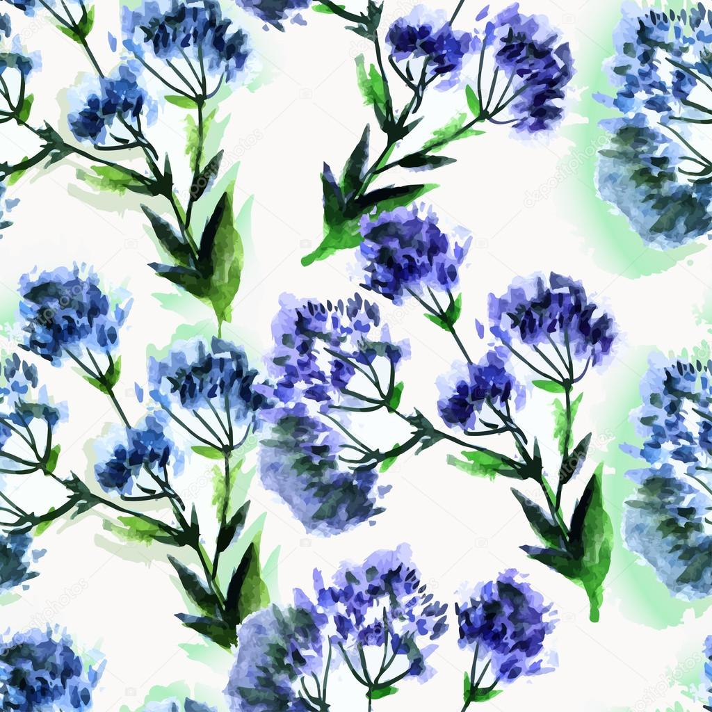 seamless pattern watercolor bouquet Flowers