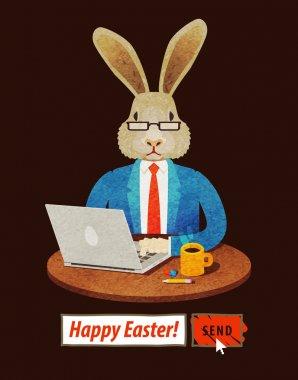 Easter Bunny. vector illustration