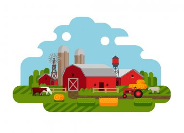 vector illustration of Agriculture and Farming icons