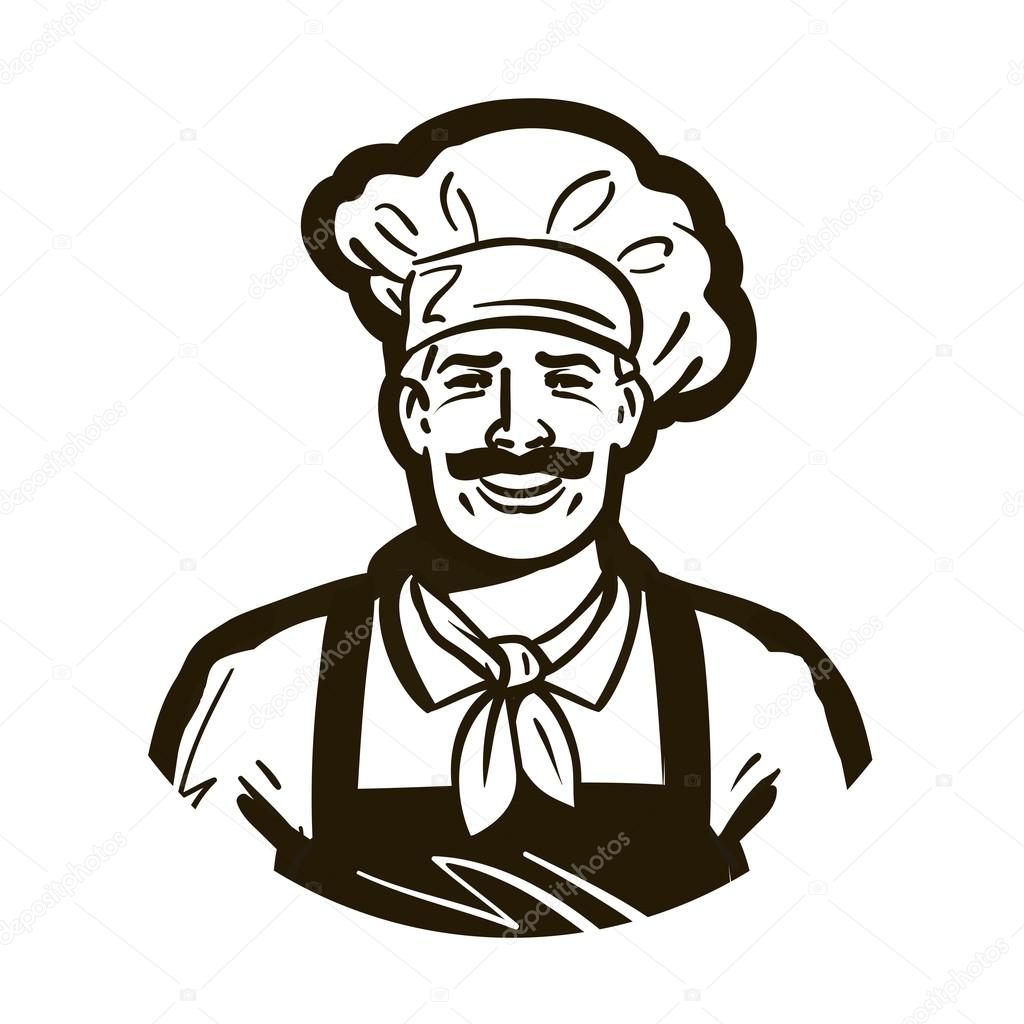 restaurant cafe vector logo chef or cuisine cooking