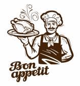 Kochen Vektor-Logo. Huhn, Türkei, Ente-Symbol