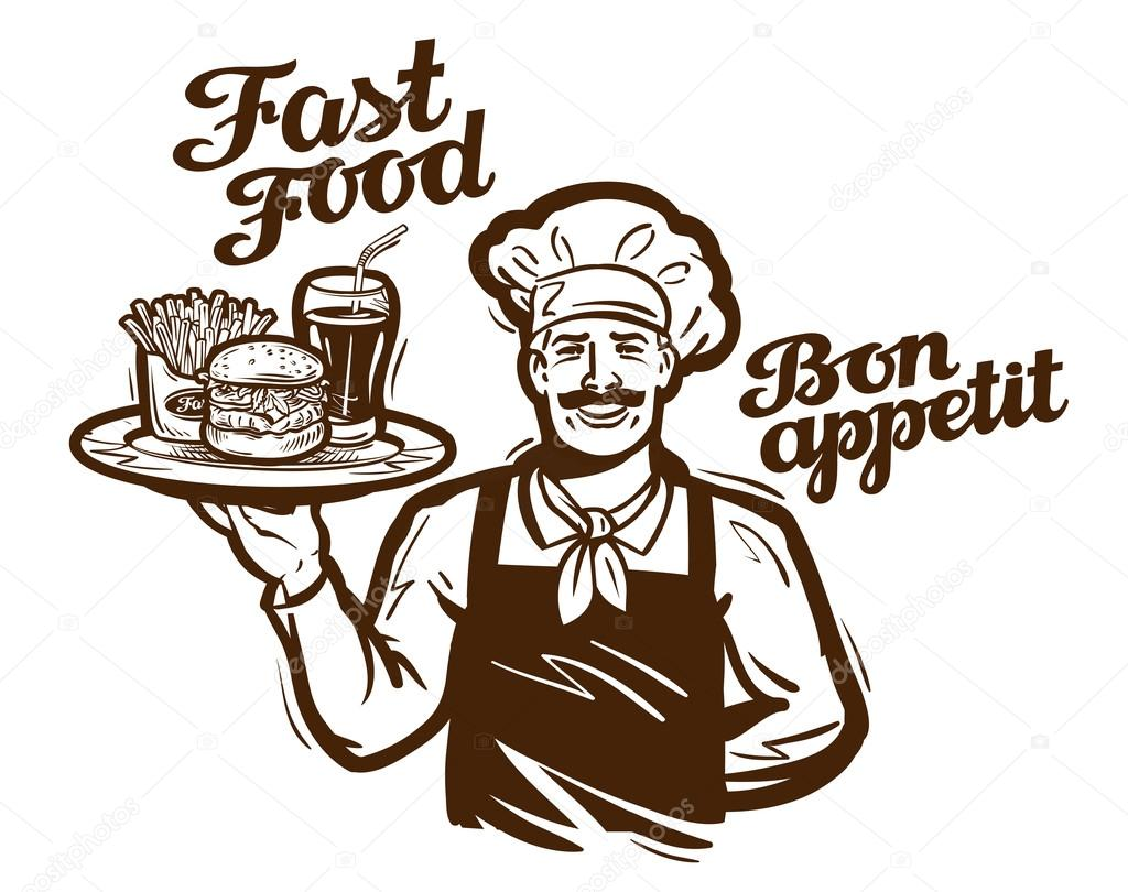 Logo vectoriel de fast food restaurant caf ou diner for Comedor logo