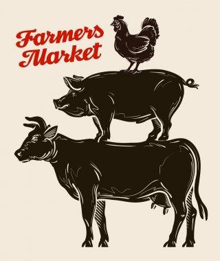 farm animals, livestock farming, husbandry, cattle breeding