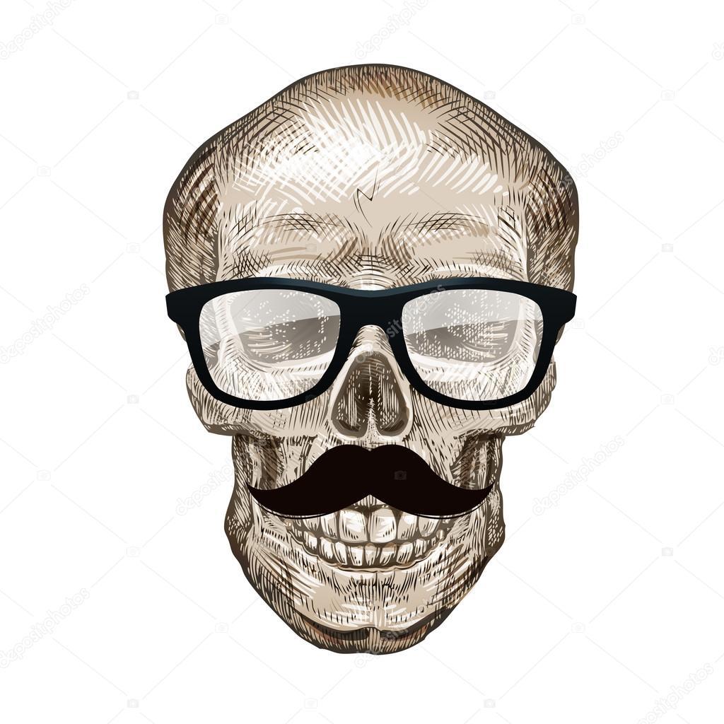 Crâne avec bandana et lunettes de soleil tFmu5A1q