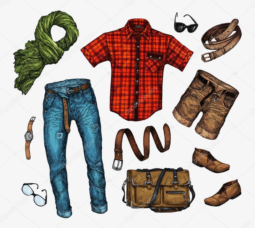 Набір Одяг чоловіча модно. Спорядження людина neckerchief be5d5bd48c9a2