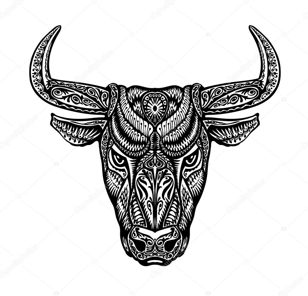 Buffalo Tribal Tattoo Designs