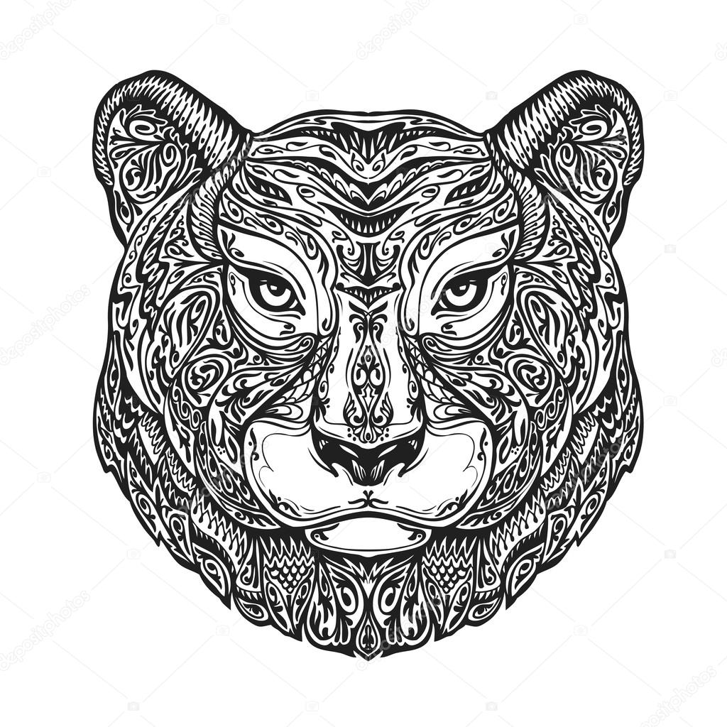 Ornamented jaguar - Mandalas de tigres ...