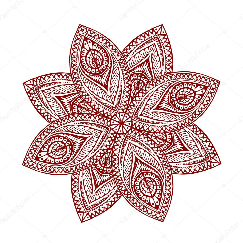 Mandala. Beautiful vintage round pattern. Vector illustration of ethnic style