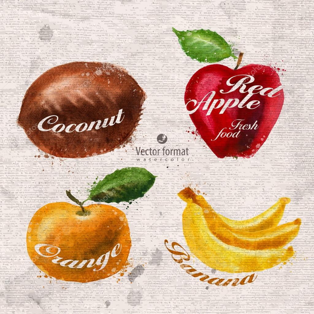 Fruits. Vector format