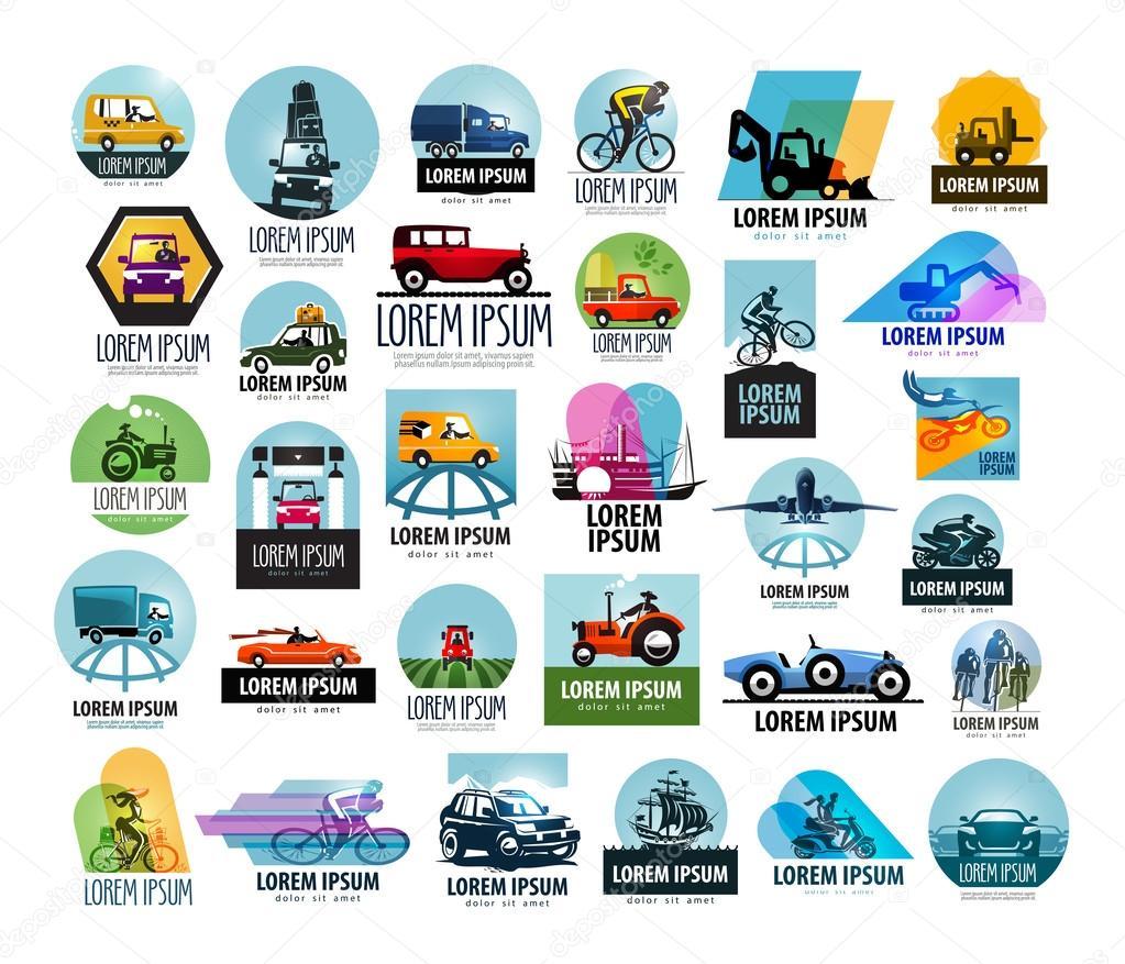 plantilla de diseño de coche vector logo. icono de transporte o ...