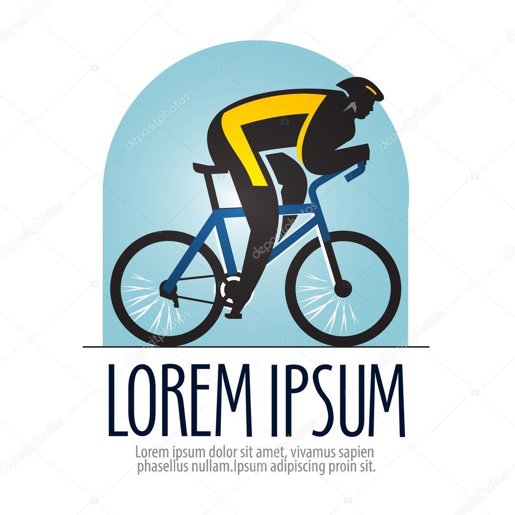 bicicleta carreras vector logo diseño plantilla. icono de deportes o ...