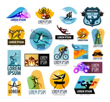 fitness vector logo design template. sport or athlete icon.