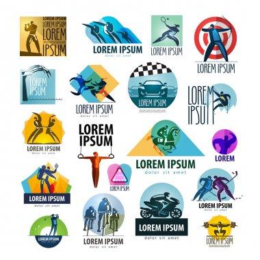 sport vector logo design template. spotrsmen or health icon.
