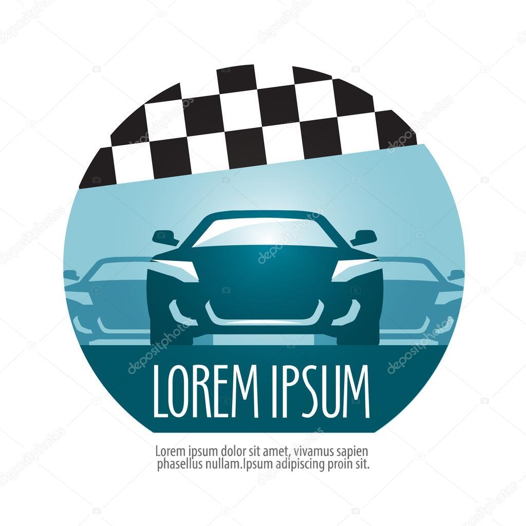 Plantilla de diseño de logotipo vectorial de Rally. raza o icono ...