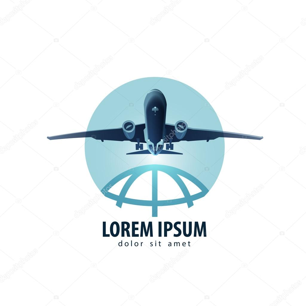 Aircraft Vector Logo Design Template Vacation Or Travel Icon Stock Vector C Sergeypykhonin 64007713