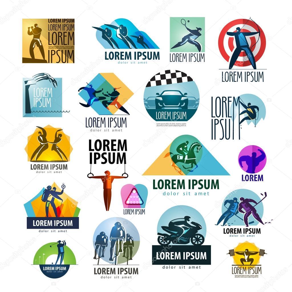 Sport Vektor Logo Design Vorlage Spotrsmen Oder Gesundheit Symbol