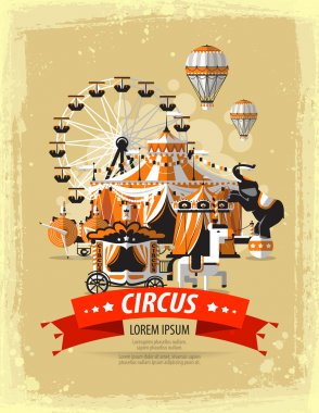 circus, fairground, carnival. vector illustration