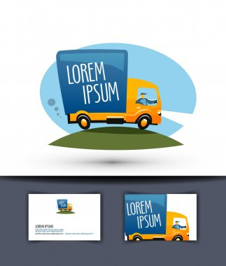delivery vector logo design template. truck or business icon.