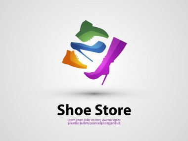 shoes vector design template. sale or Shopping icon.